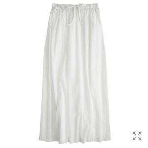 White gauze maxi skirt